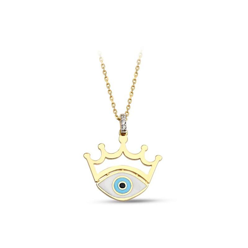 Prenses Göz Gümüş Kolye